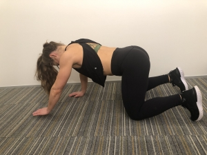 hand and knee elevation exercise for back pain