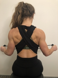 external rotation of the shoulders