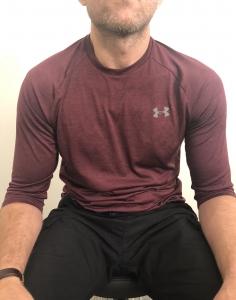 shoulder posture exercise - return to normal position