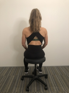 sitting core exercise for back pain