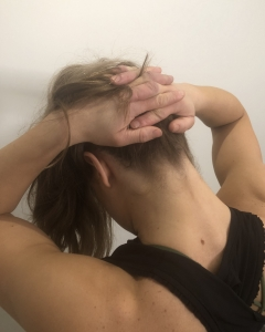 deep neck pain flexion stretch
