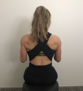 shoulder pain and posture exercise start position
