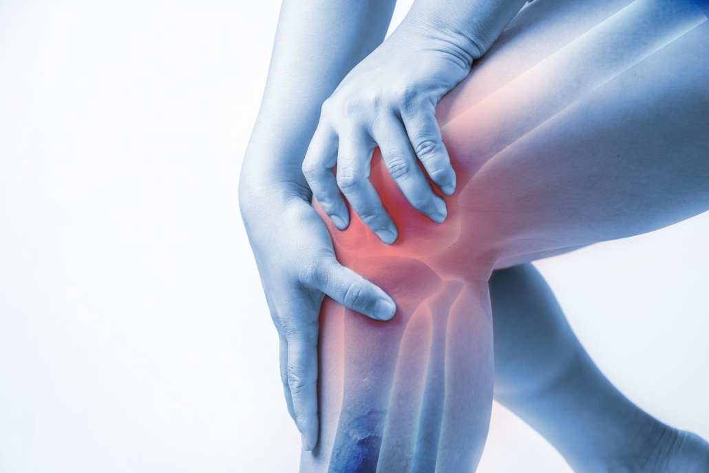 Knee joint pain caused be prescription-pateall bursitis image.