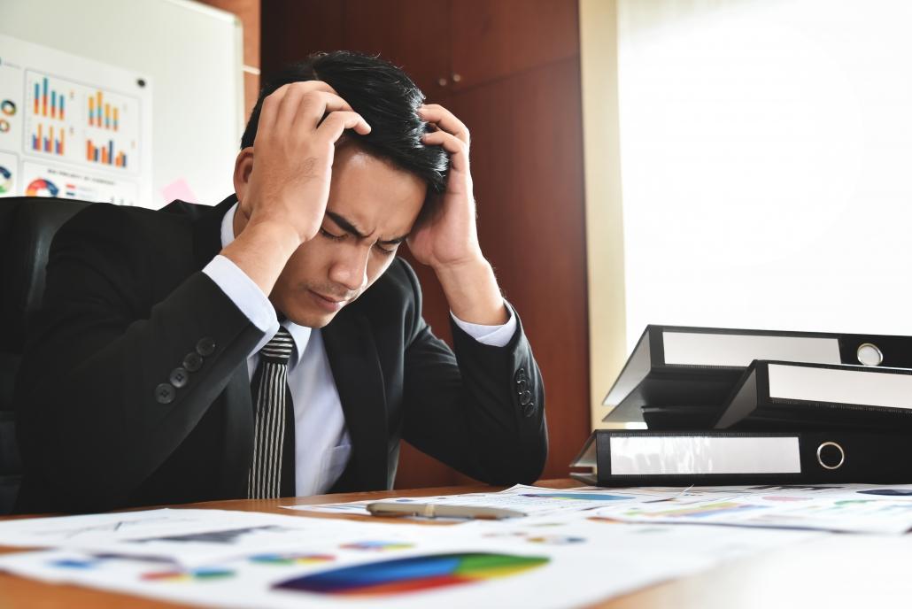 To illustrate stress based headache.